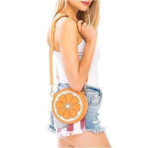NWT Orange Crossbody/Shoulder Bag